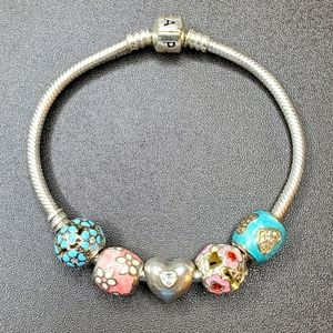 Pandora Bracelet w/ 5 Charms